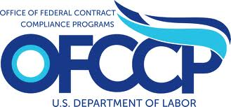 OFCCP Logo Blue letters on white background