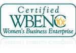 "WBENC Certified Logo stating ""Certified WBENC Women's Business Enterprise"""