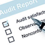 Image of an Audit report with audit satisfactory checked
